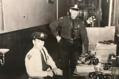 Standing-Capt-Stacy-Carhart-Sitting-Ptl-Charles-Mack-West-Keansburg-School-Hallway-used-as-PD
