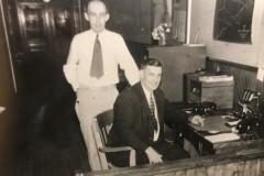 Standing-Chief-J.-Carlton-Cherry-Sitting-Capt.-Stacy-Carhart-west-keansburg-school-1942