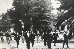 VFW-Parade-1950s-Laurel-Ave-Left-to-right-officers-W-Smith-J-Oliver-C-Mack-W-Till-J-Dowd-commissioner-J.-diver-Mayor-Seamen